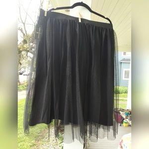 Worthington Women Knee Length Tulle Skirt